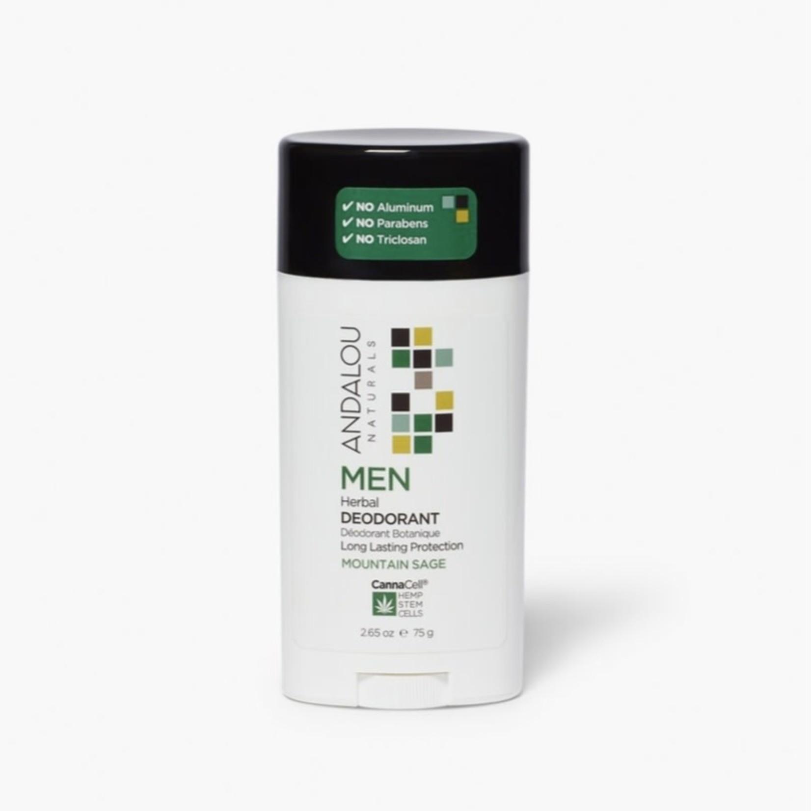 Andalou Andalou Men Mountain Sage Herbal Deodorant