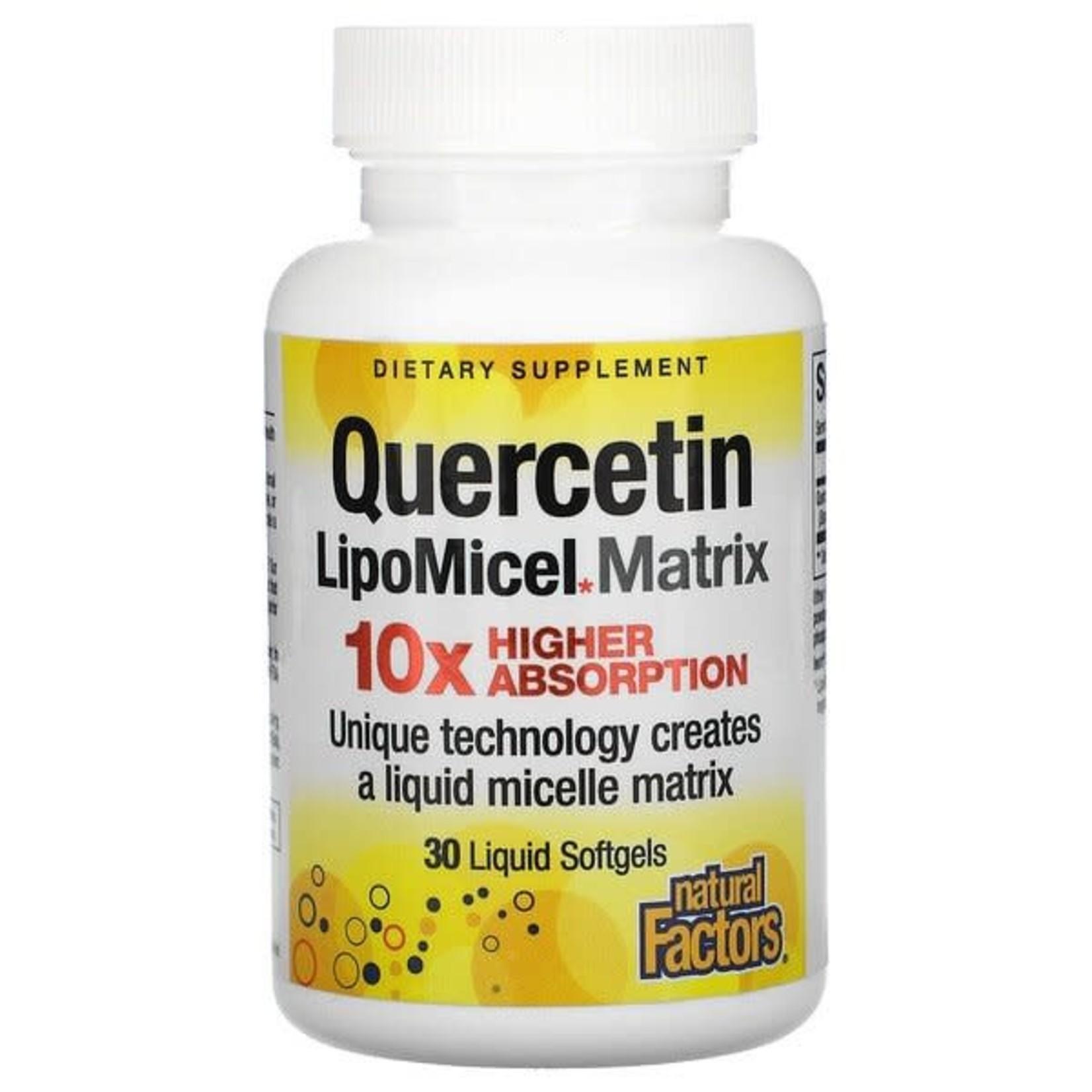 Natural Factors Natural Factors Quercetin  LipoMicel Matrix 30 softgels