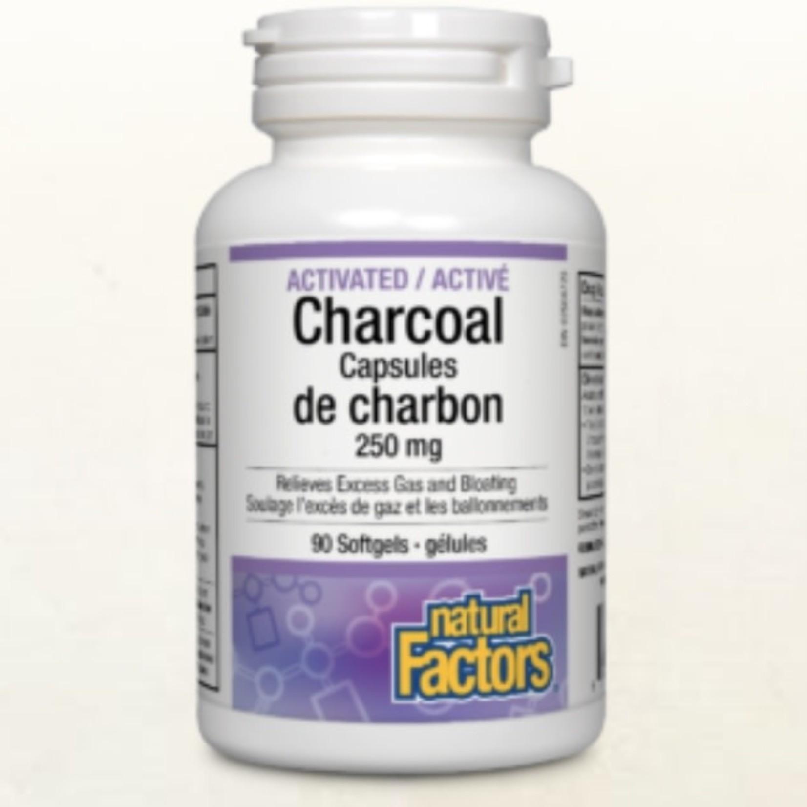 Natural Factors Natural Factors Activated Charcoal 250mg 90 softgels