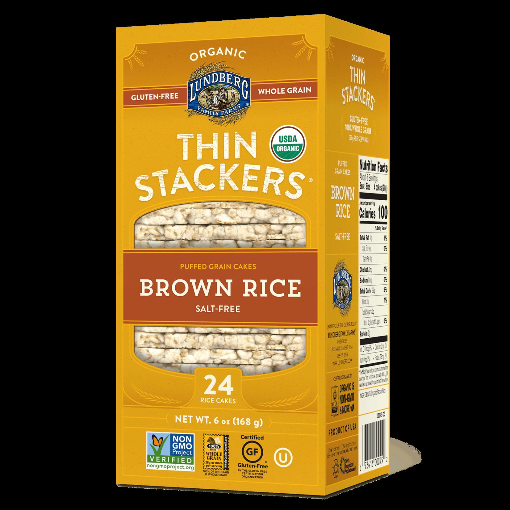 Lundberg Family Farms Lundberg Brown Rice Stackers - Salt Free