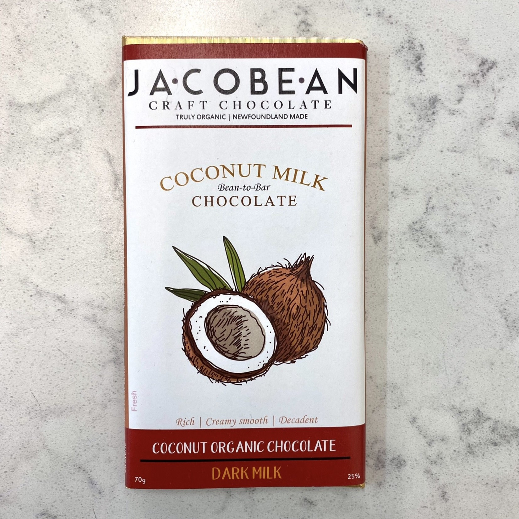 Jacobean Jacobean Dark Milk Coconut Chocolate