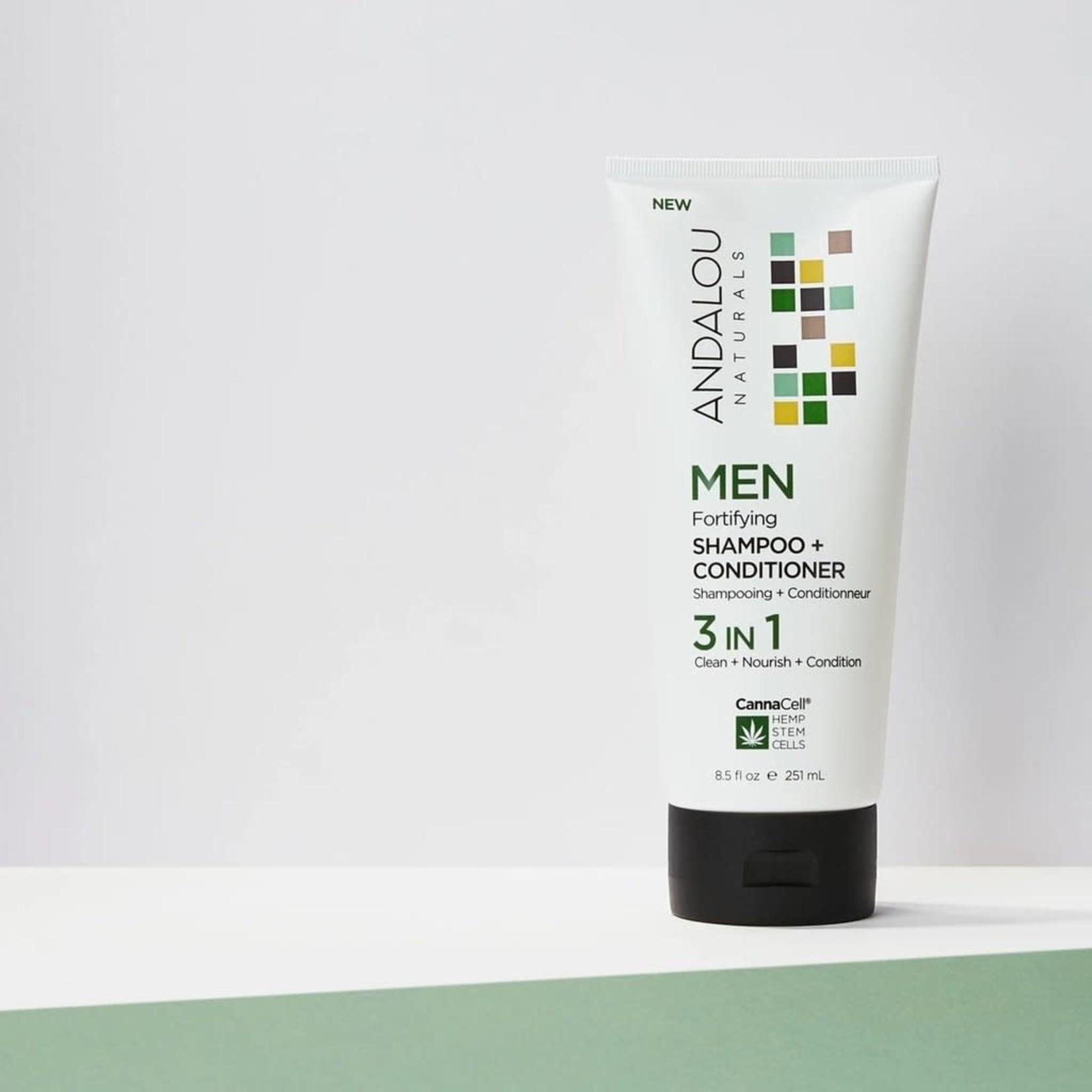 Andalou Andalou Men 3 in 1 Shampoo + Conditioner 251ml