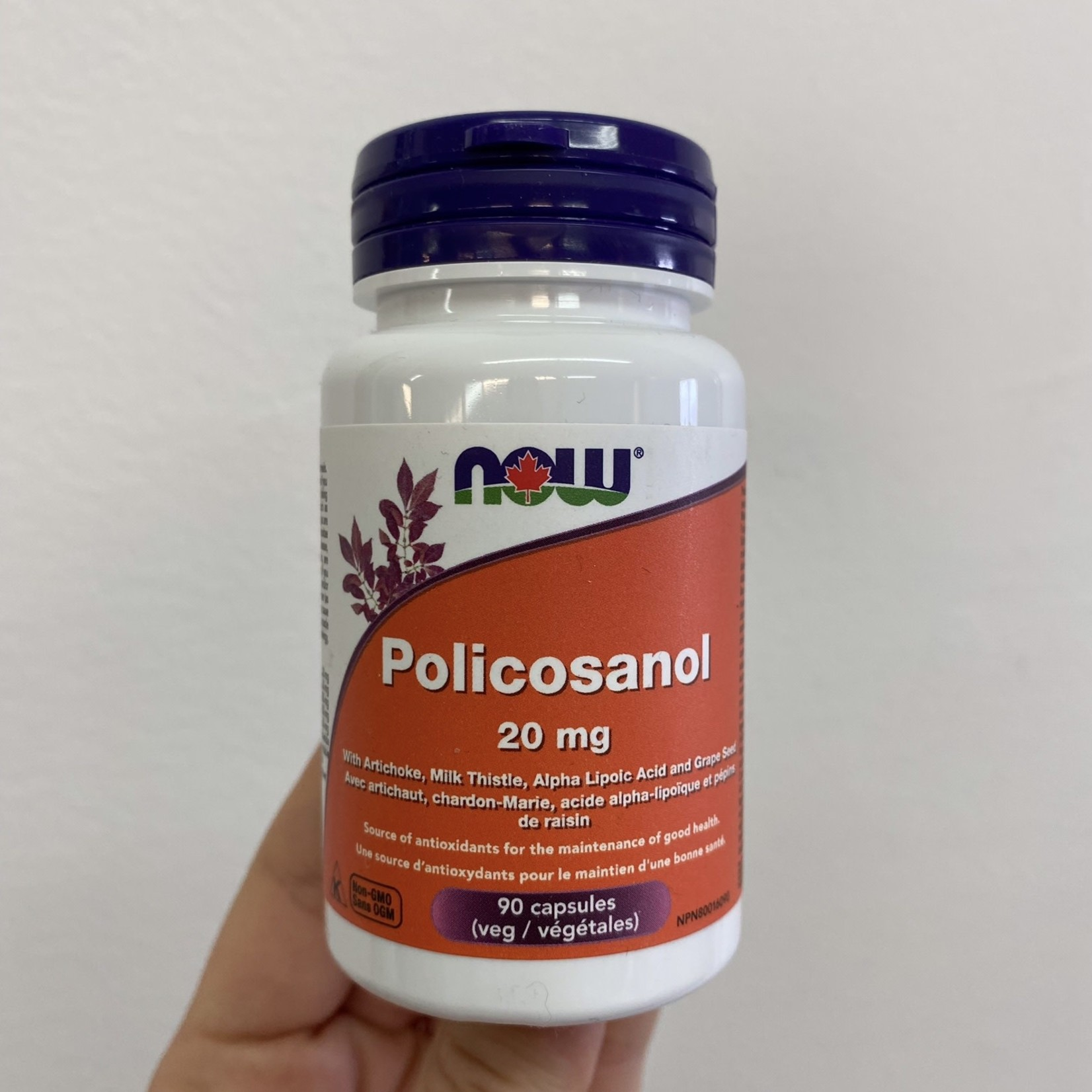 Now Now Policosanol 20mg 90 caps