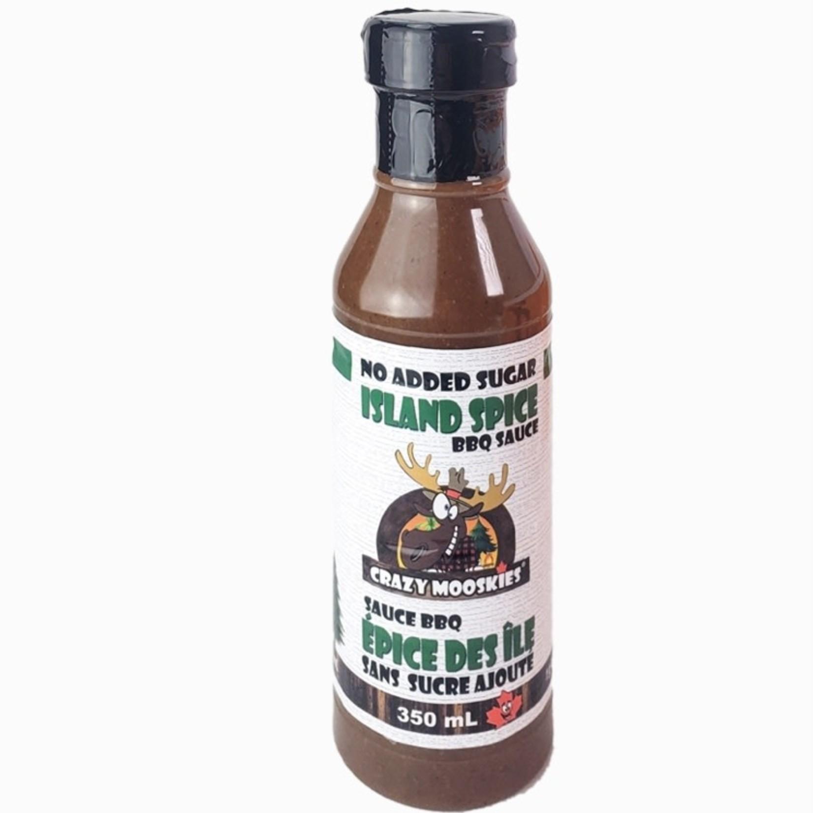 Crazy Mooskies Crazy Mooskies Island Spice BBQ Sauce 350ml