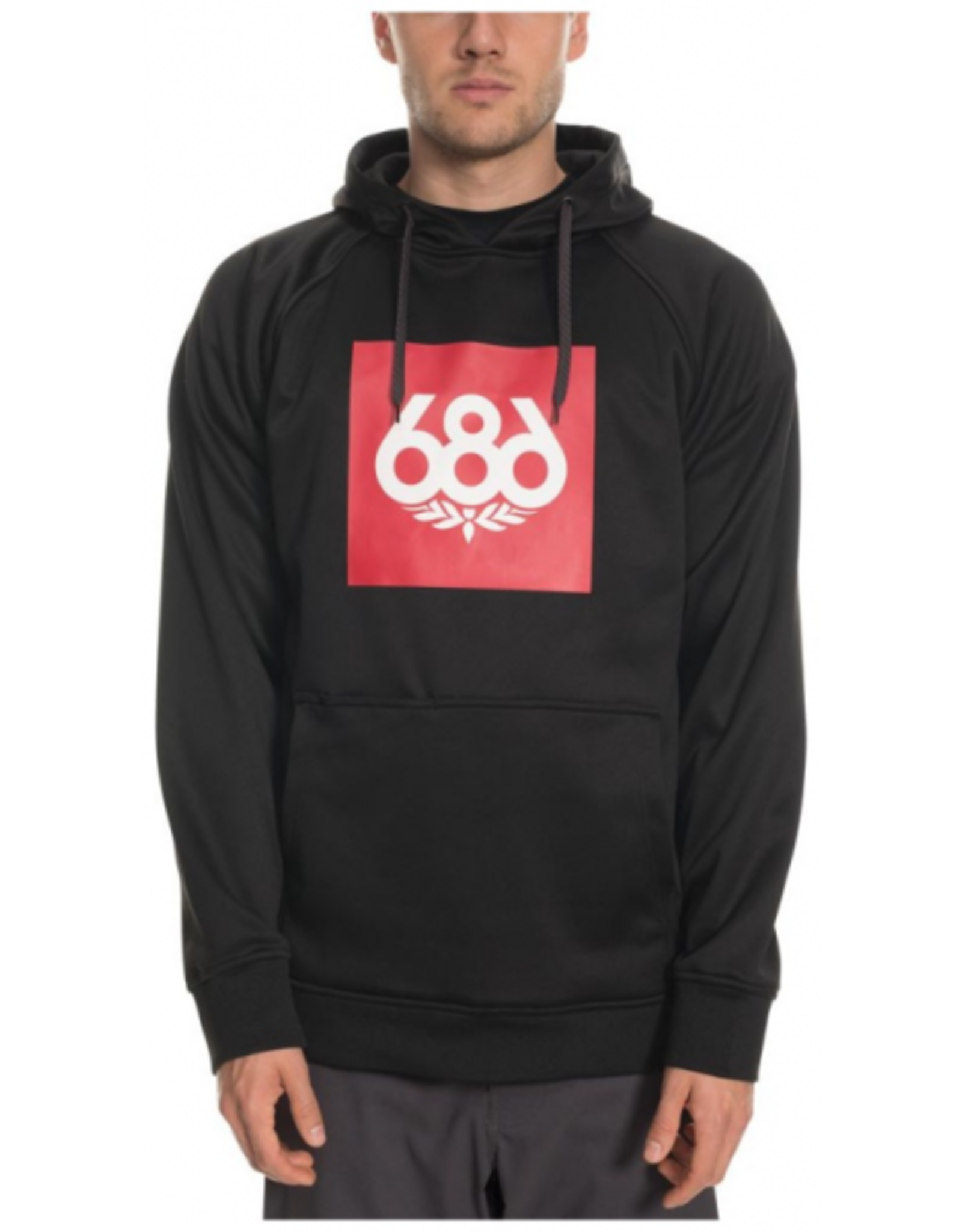 686 686 Knockout Bonded  Fleece Pullover Hoody Black Size Small