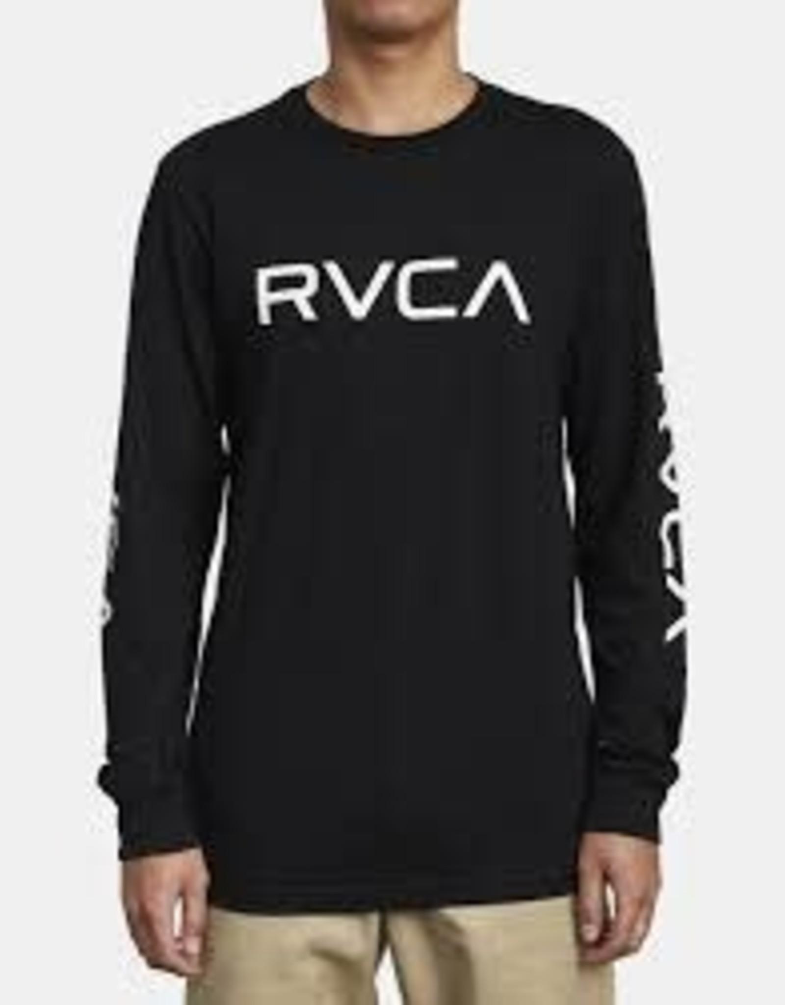 RVCA Boys RVCA L/S Tee Big RVCA Black Lrg