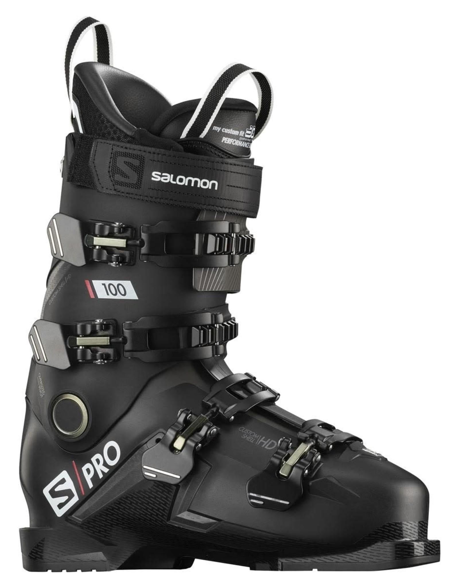 Salomon Salomon Boots S/PRO 100 Black/Belluga/Red Size 25/25.5