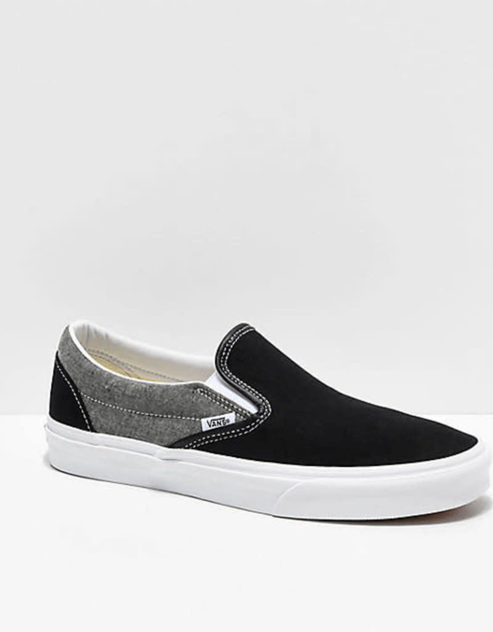 Vans VANS Classic Slip-On (Chambray) Canvas Black/Grey