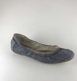 Toms Toms Ballet Flat Blue Chambray 7.5