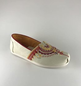 Toms Toms Natural Beaded Canvas Classic
