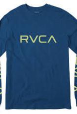 RVCA Mens RVCA L/S Tee BIG RVCA Bright Blue