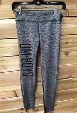 OM Boys Om Boys Women's Om Boys Yoga Pants Grey W/Black Size Medium