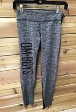 OM Boys Om Boys Women's Om Boys Yoga Pants Grey W/Black Size Small