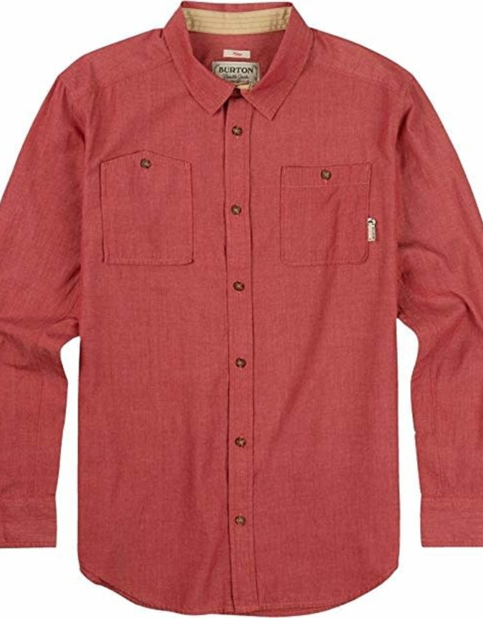 Burton Burton Glade Long Sleeve Button Up Red Chambray Size Large