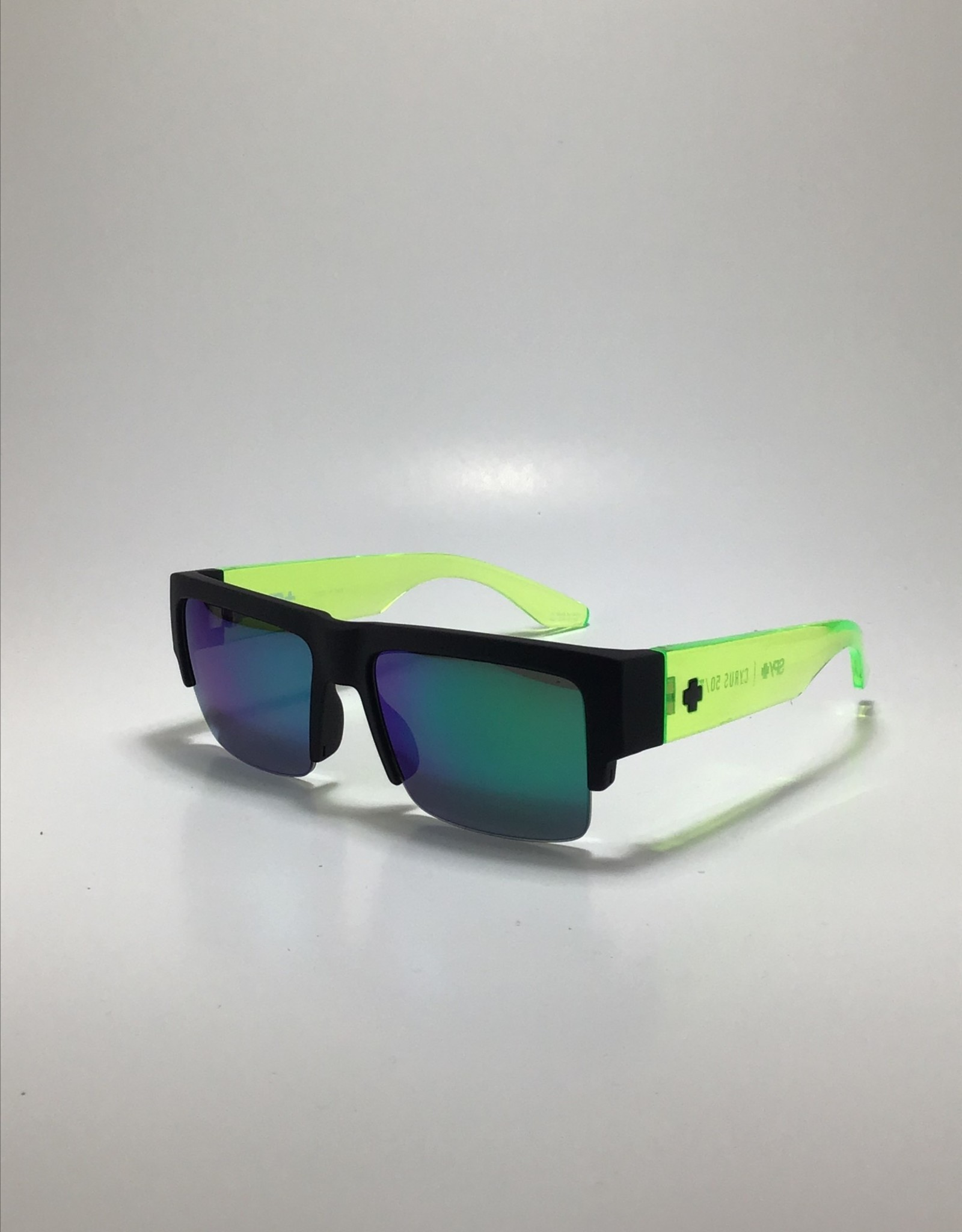 Spy Cyrus 5050 Soft Matte Black Translucent Green - HD Plus Gray Green with Green Spectra Mirror