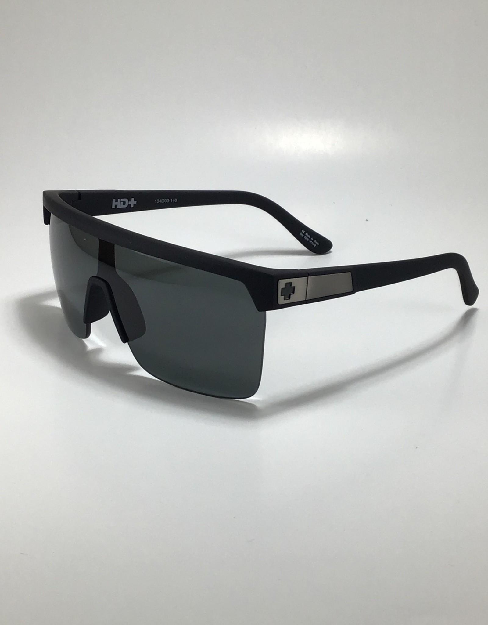 Spy Flynn 5050 Soft Matte Black - HD Plus Gray Green