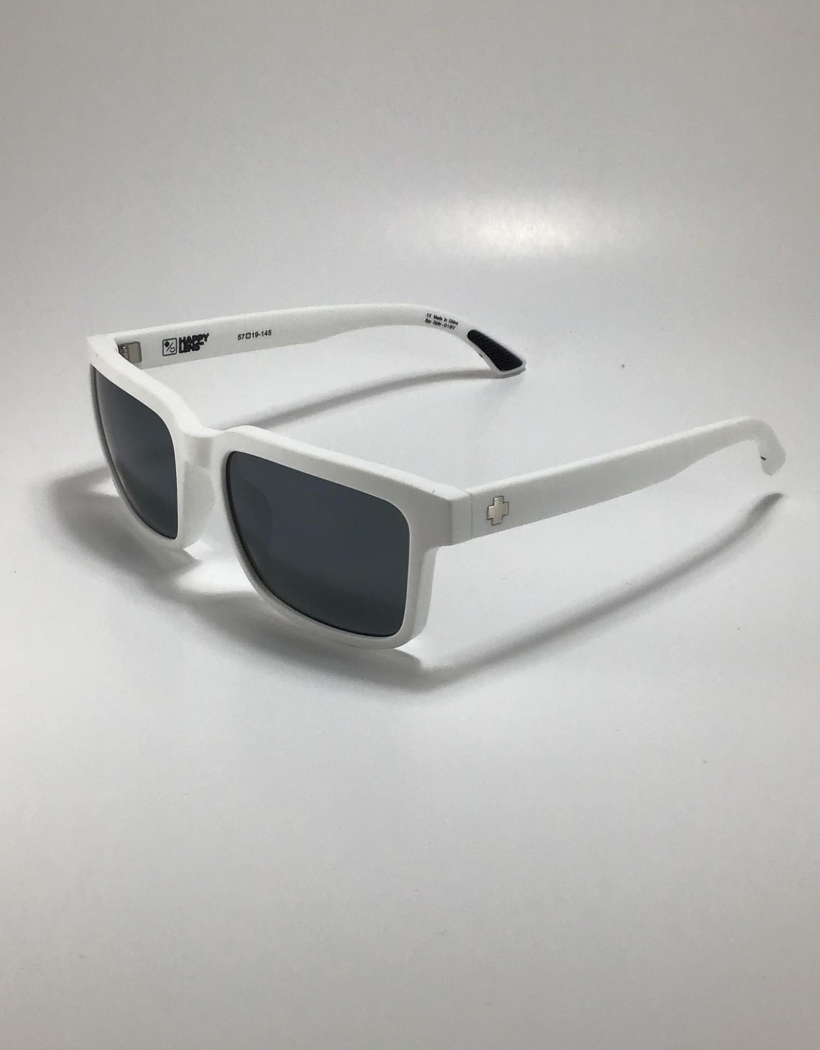 Spy Helm 2 Matte White - Happy Gray Green w Silver Spectra