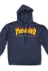 Thrasher THRASHER FLAME LOGO HOOD Navy