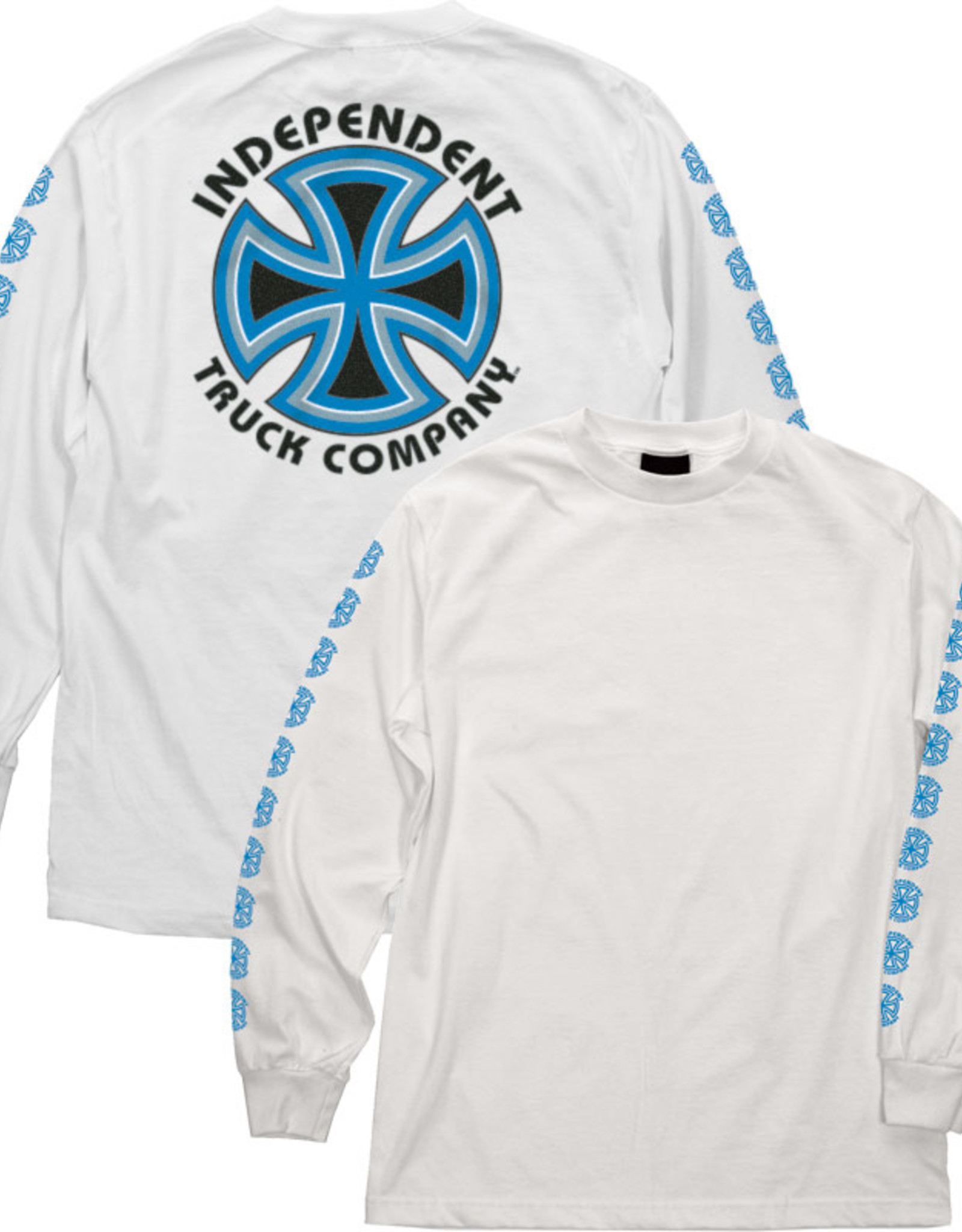 Independent Indy L/S T-shirt Bauhaus Cross White