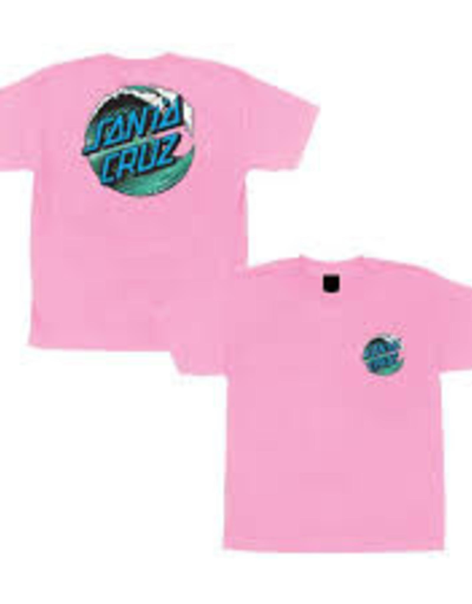 Santa Cruz Santa Cruz Youth Tee Wave Dot Pink