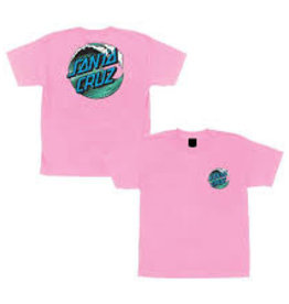 Santa Cruz Santa Cruz Youth Tee Wave Dot Pink