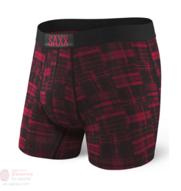 saxx SAXX VIBE BOXER BRIEF - RED PATCHED PLAID