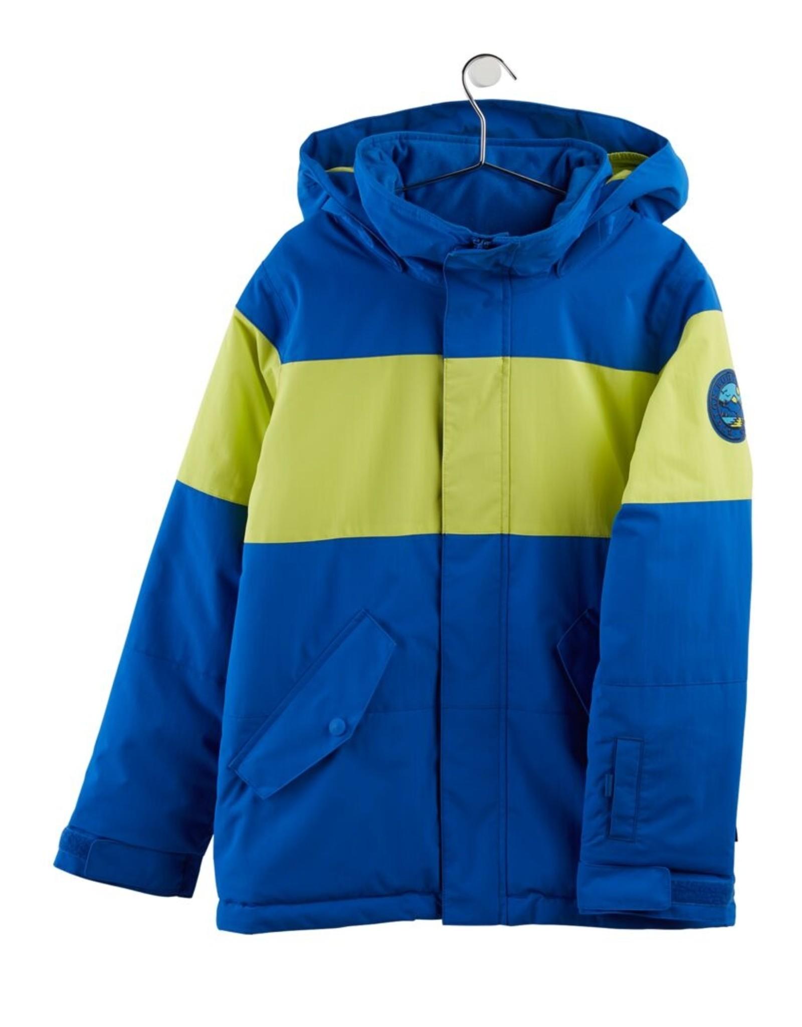 Burton Burton W21 Boys' Symbol Jacket Lapis Blue/Limeade