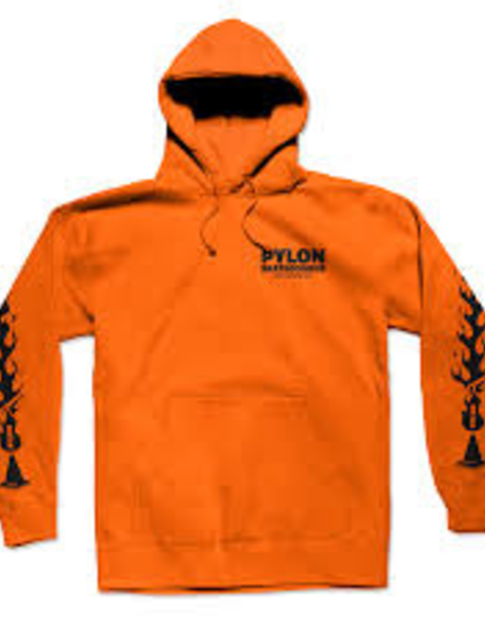Pylon PYLON FLAMES HOODIE - ORANGE