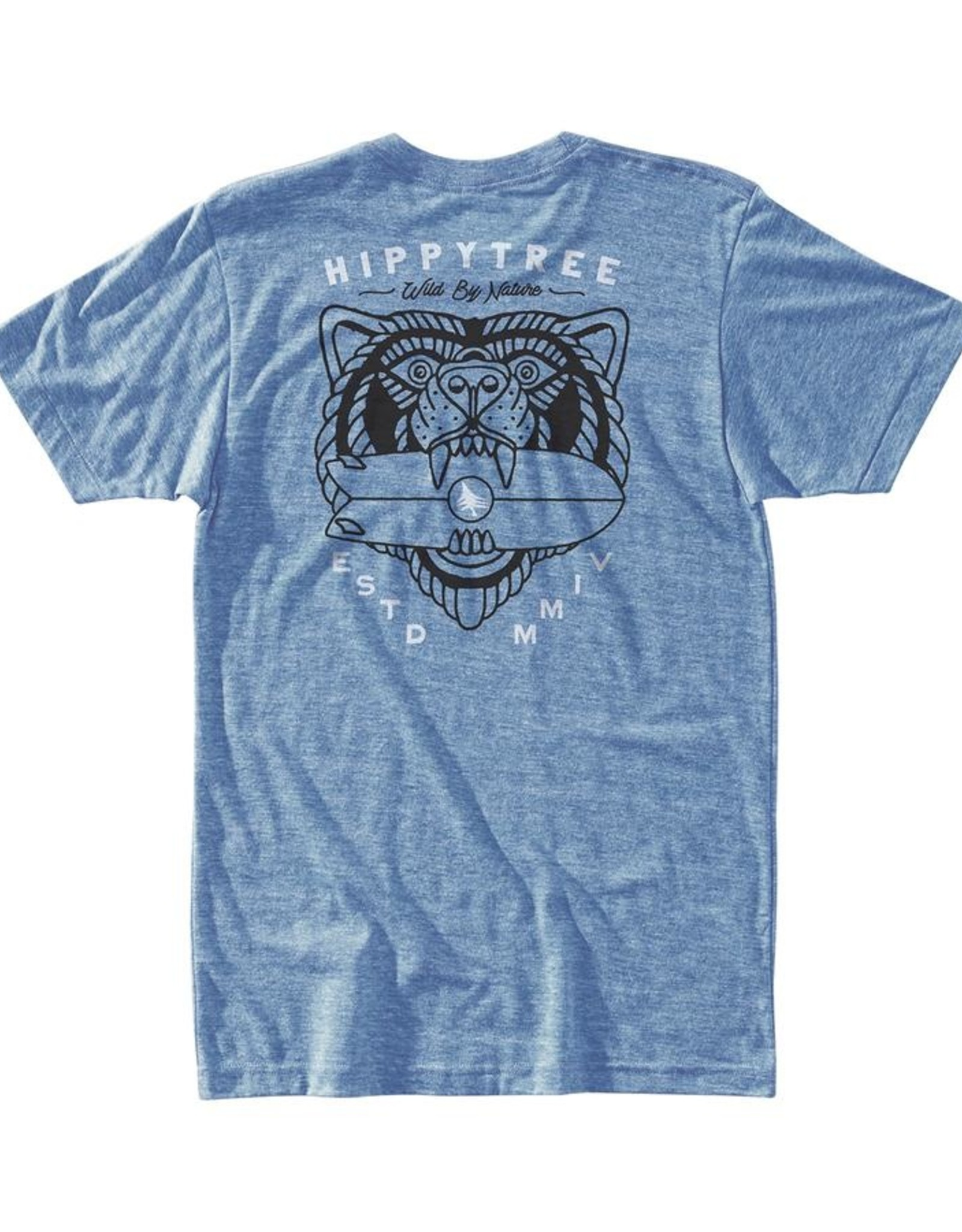 Hippy Tree BEAST TEE HEATHER LIGHT BLUE