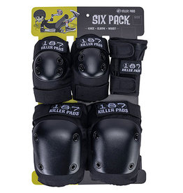 187 187 - JR SIX PACK PAD SET Black