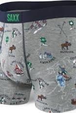 saxx VIBE BOXER BRIEF GREY MOUNTAIN HIGH