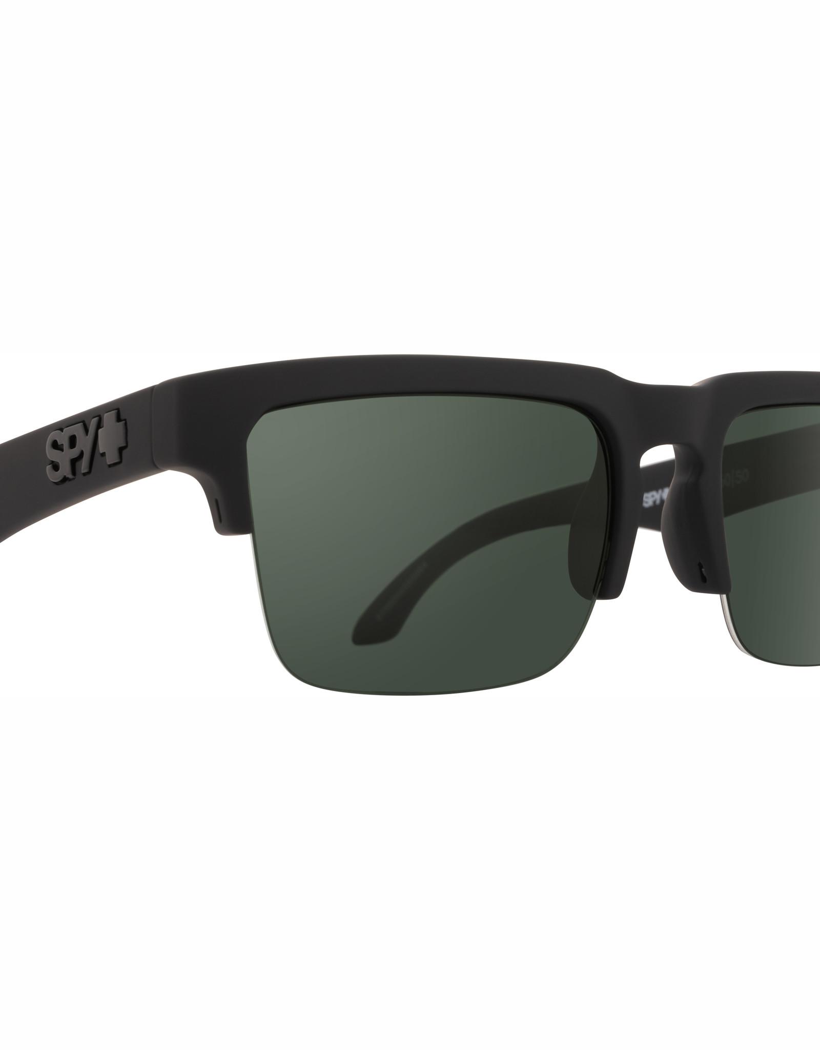 Spy Helm 5050 Soft Matte Black HD Plus Gray Green Polar