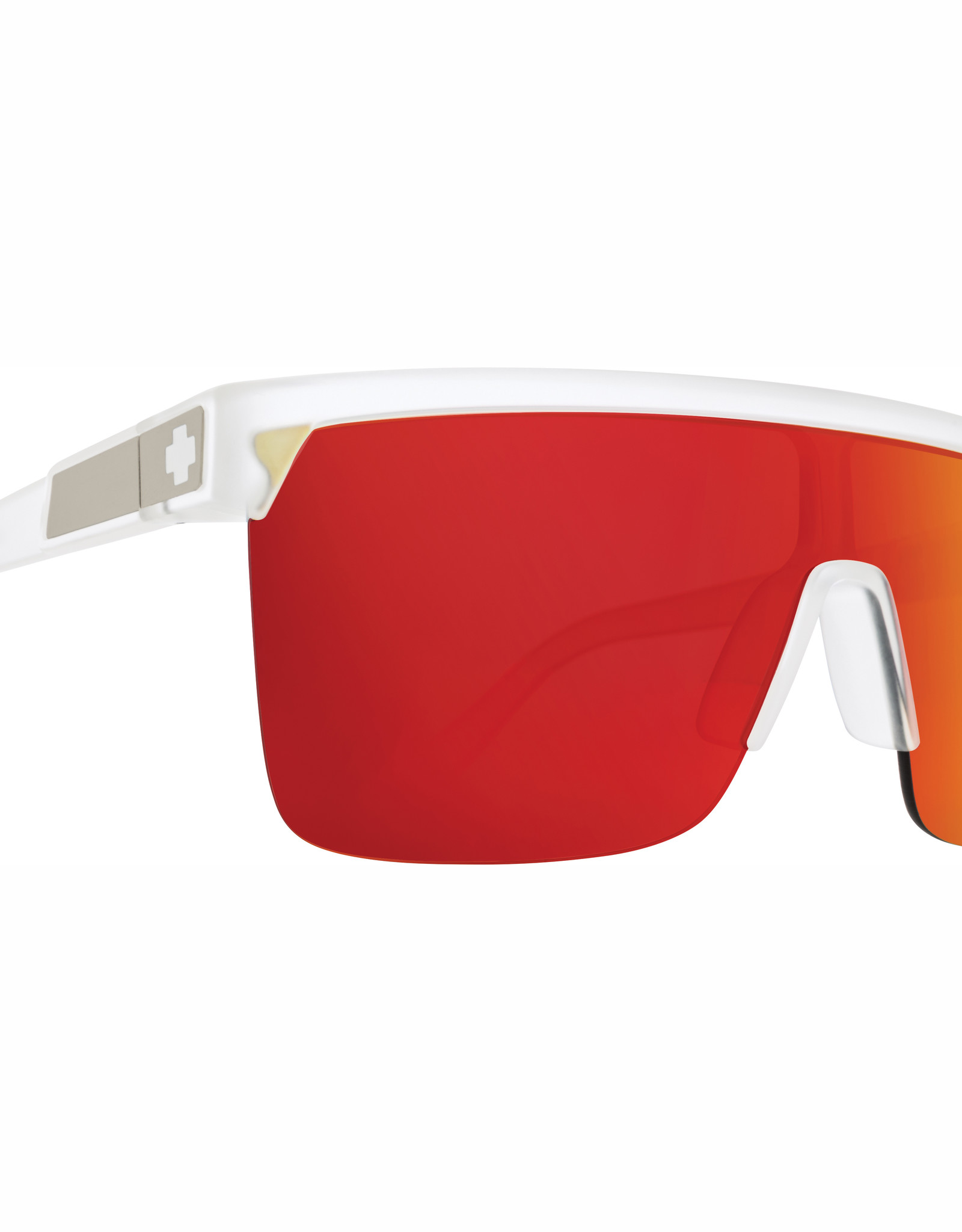 Spy Flynn 5050 Matte Crystal HD Plus Gray Green with Red Spectra Mirror