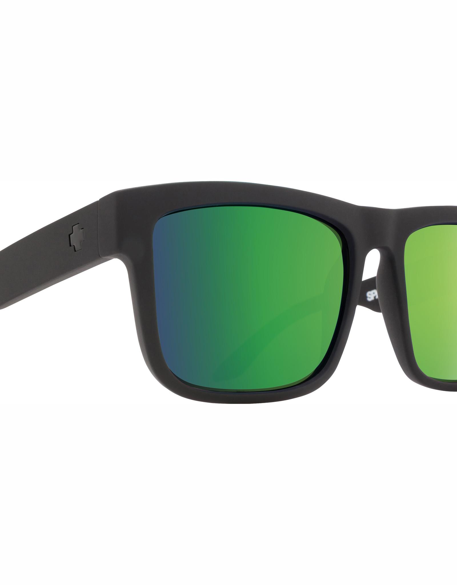 Spy Discord Soft Matte Black HD Plus Bronze Polar with Green Spectra Mirror