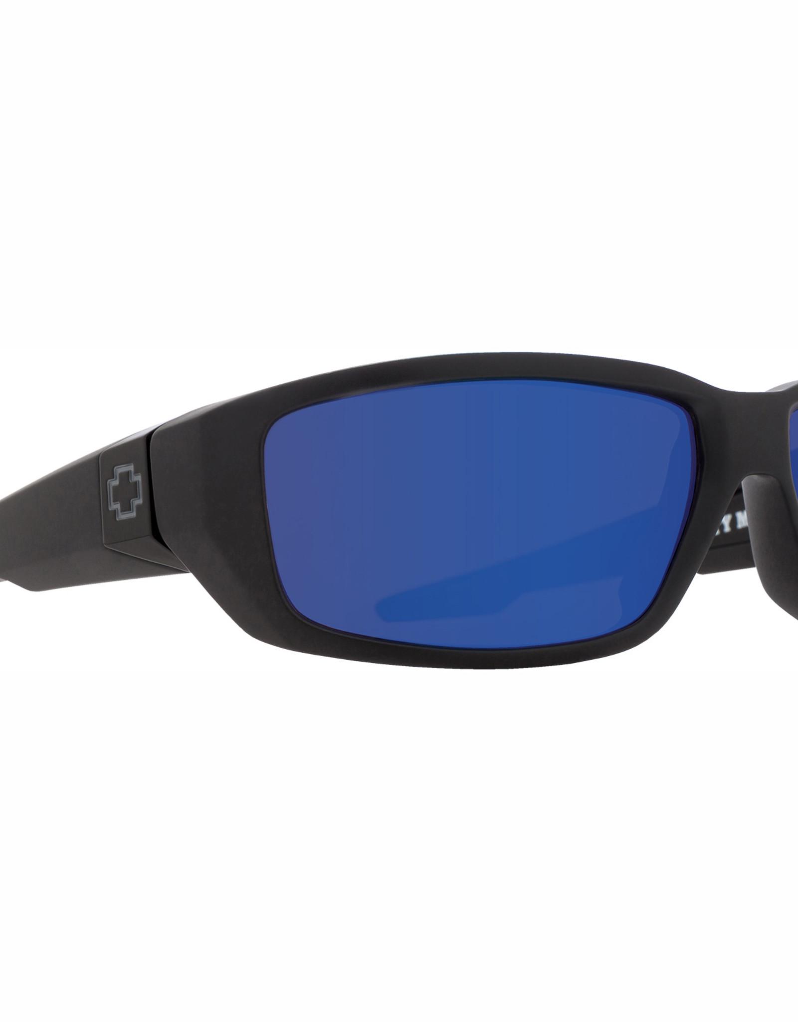 Spy Dirty Mo Matte Black - Happy Bronze Polar With Blue Spectra Mirror