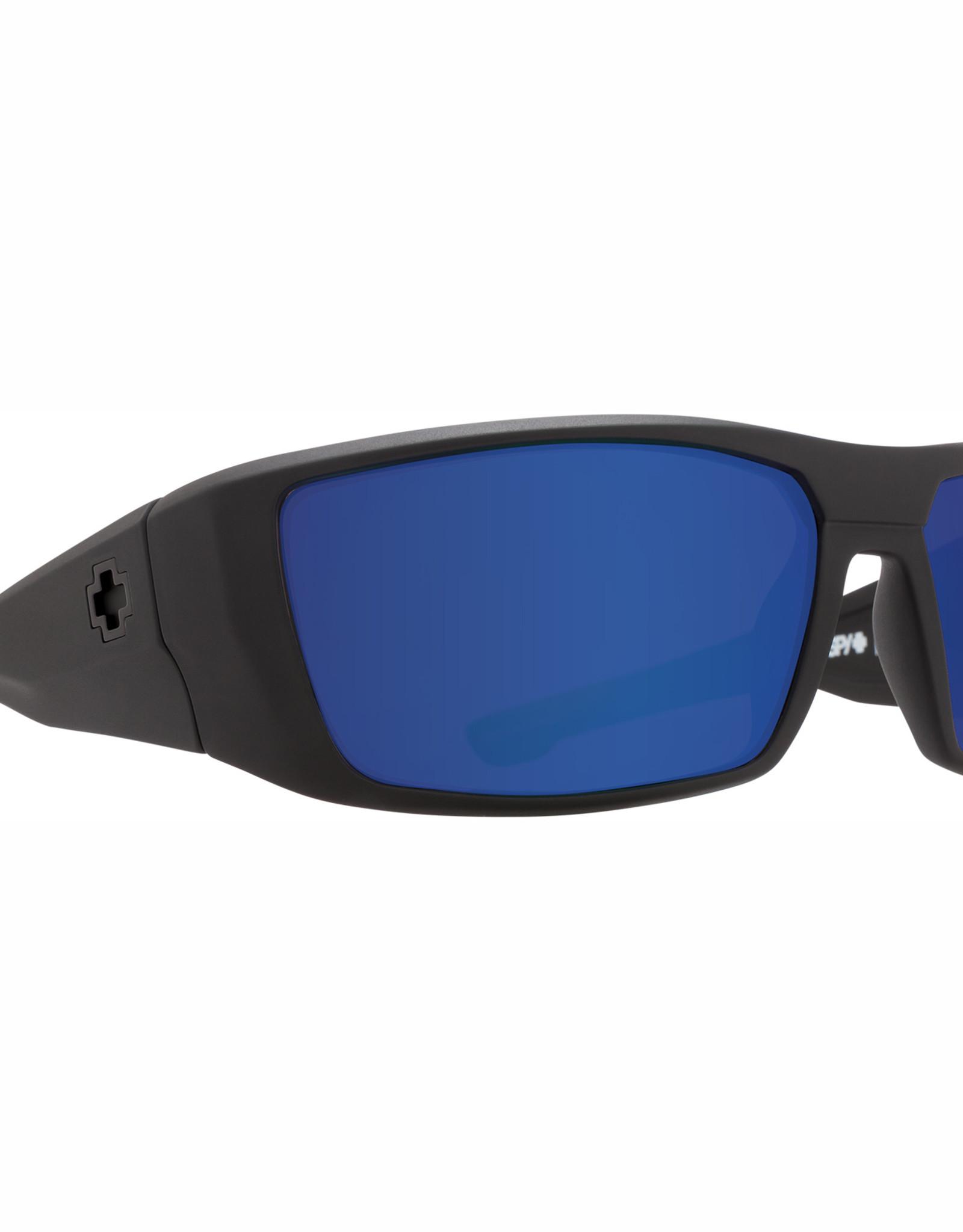 Spy Dirk Matte Black HD Plus Bronze Polar with Blue Spectra Mirror