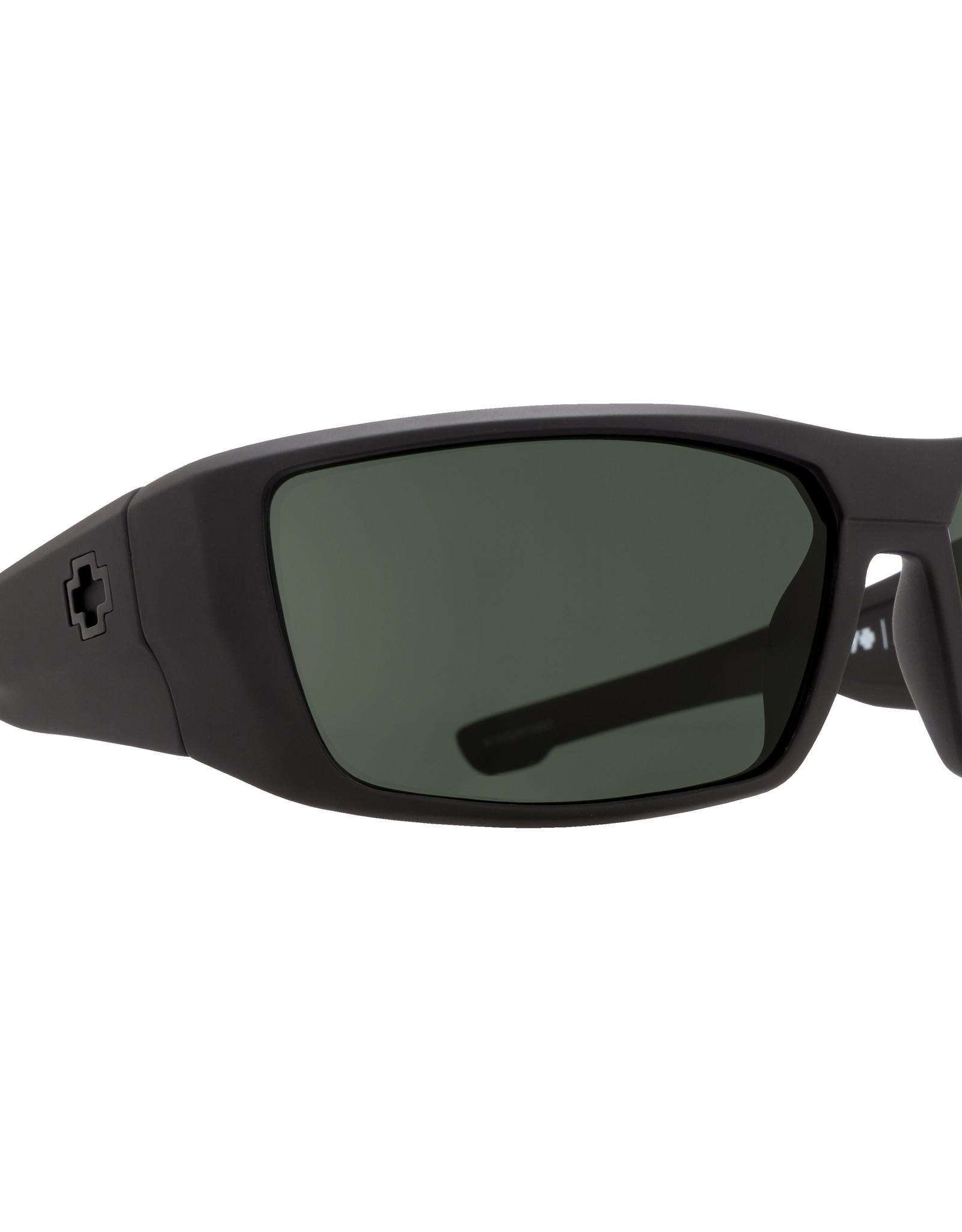Spy Dirk Soft Matte Black HD Plus Gray Green Polar