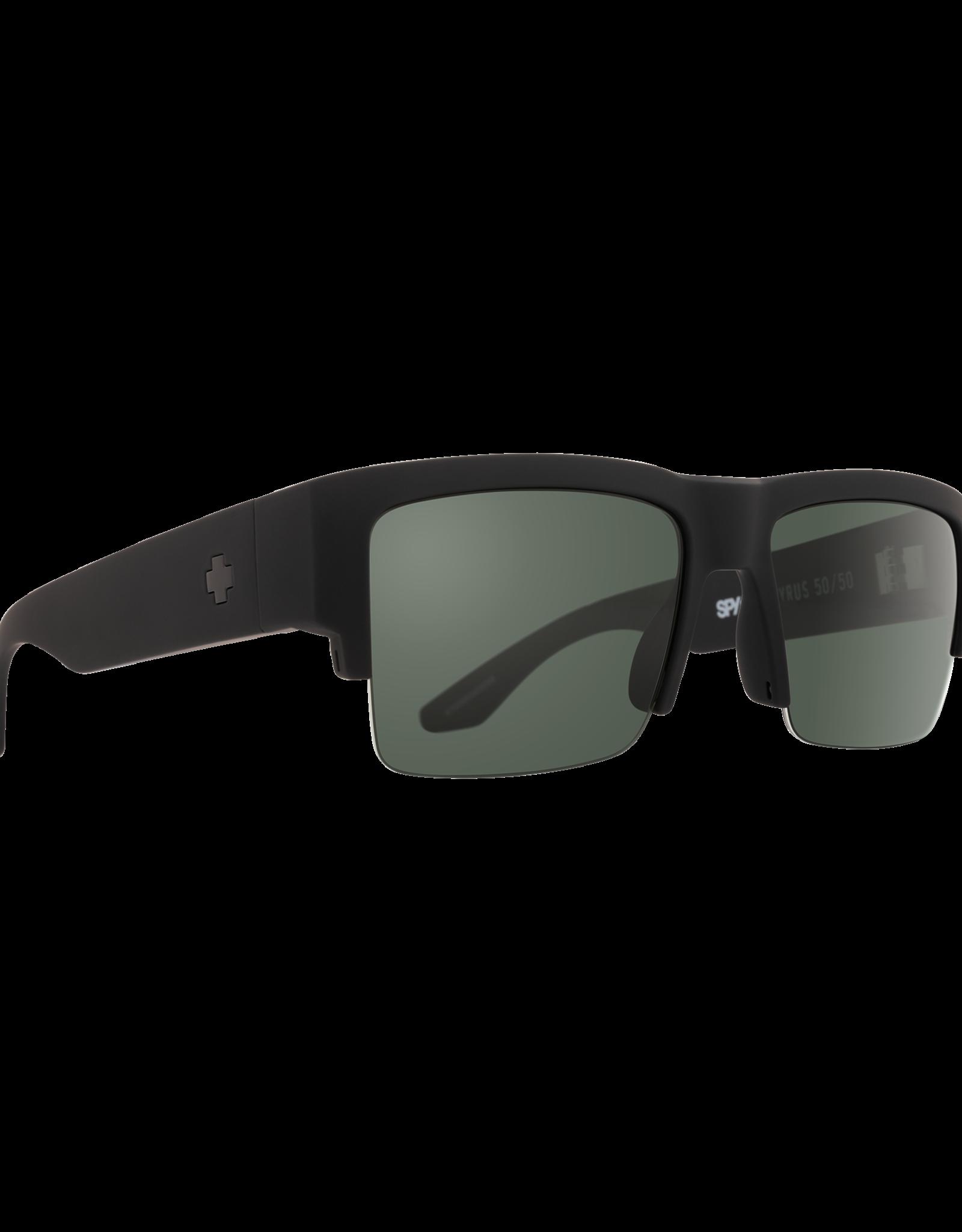 Spy Cyrus 5050 Soft Matte Black HD Plus Gray Green Polar