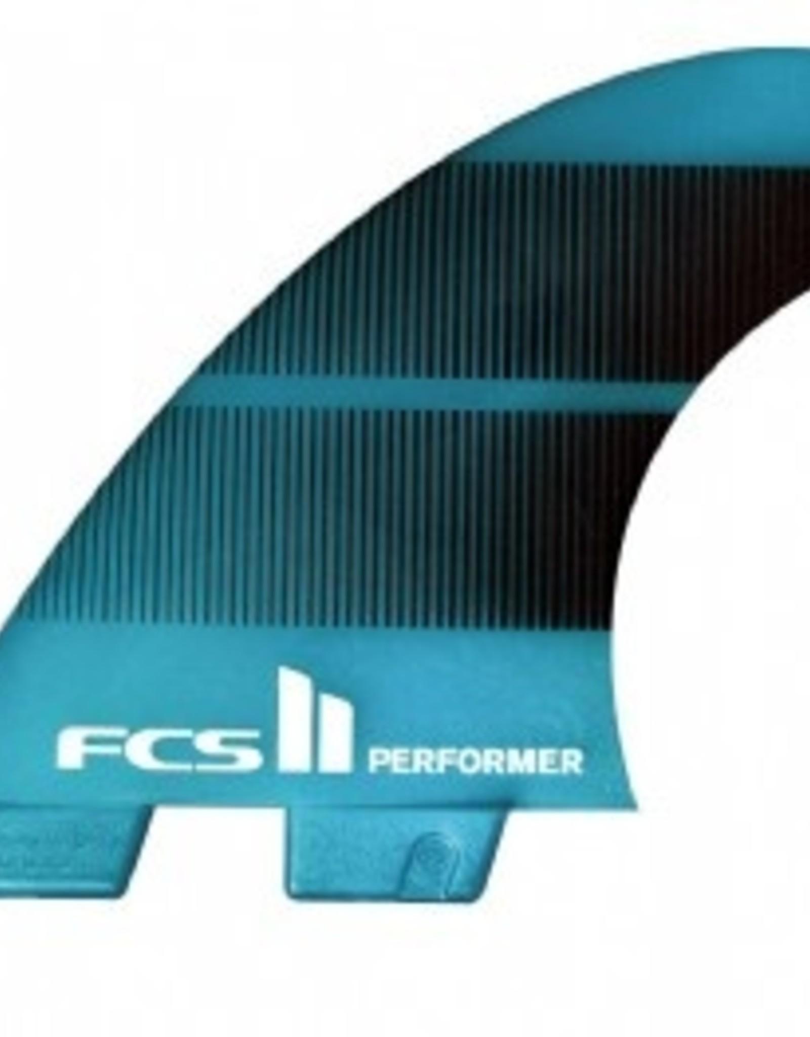 FCS FCS II Performer Neo Glass Medium Teal Gradient Tri-Quad Fin