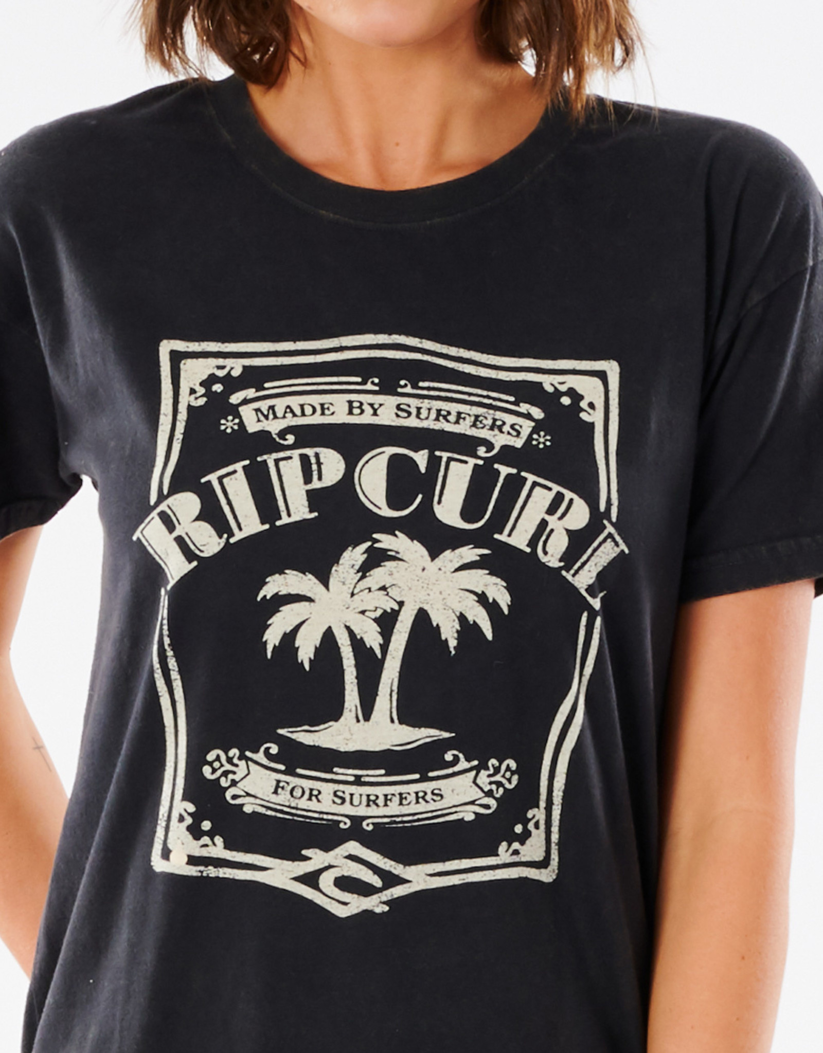 RipCurl RIP CURL PANOMA OVERSIZED CUFF TEE BLACK