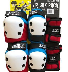 187 187 - JR SIX PACK PAD SET  RED WHITE BLUE