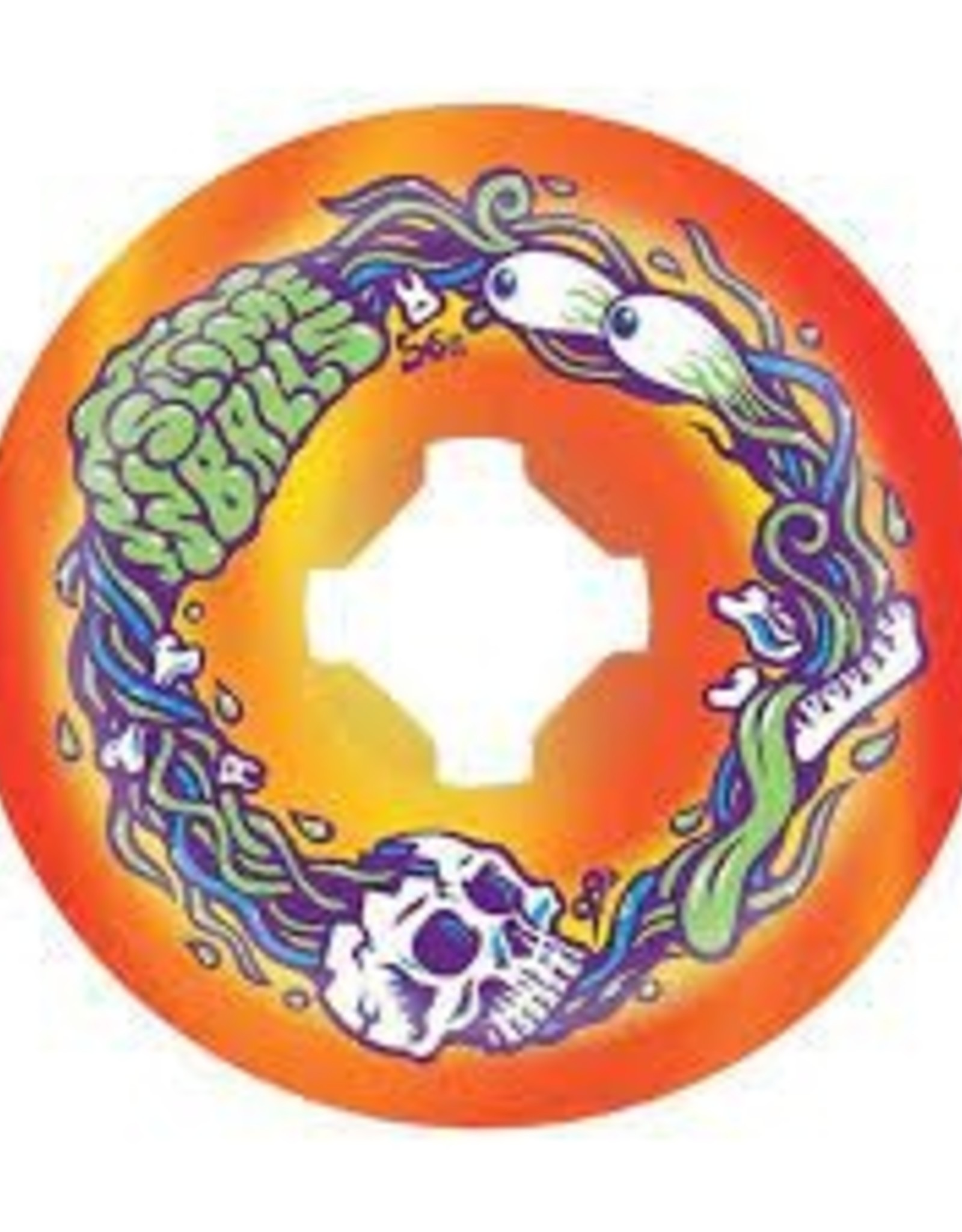 Slimeballs SLIME BALLS BRAINS SPEED BALLS ORN/YEL SWIRL 99A 56mm
