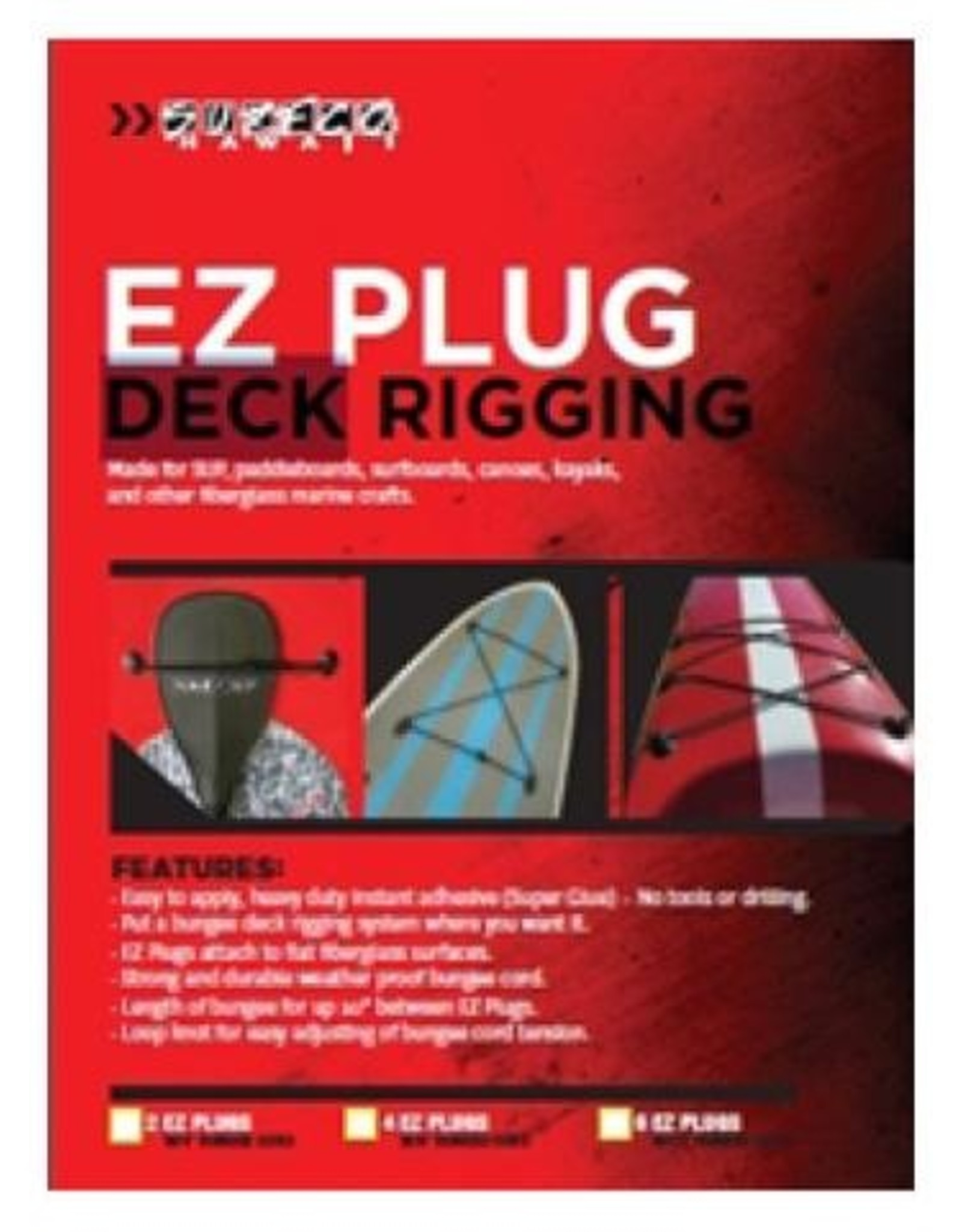 Surfco EZ Plug Kit - Twin Clear Red