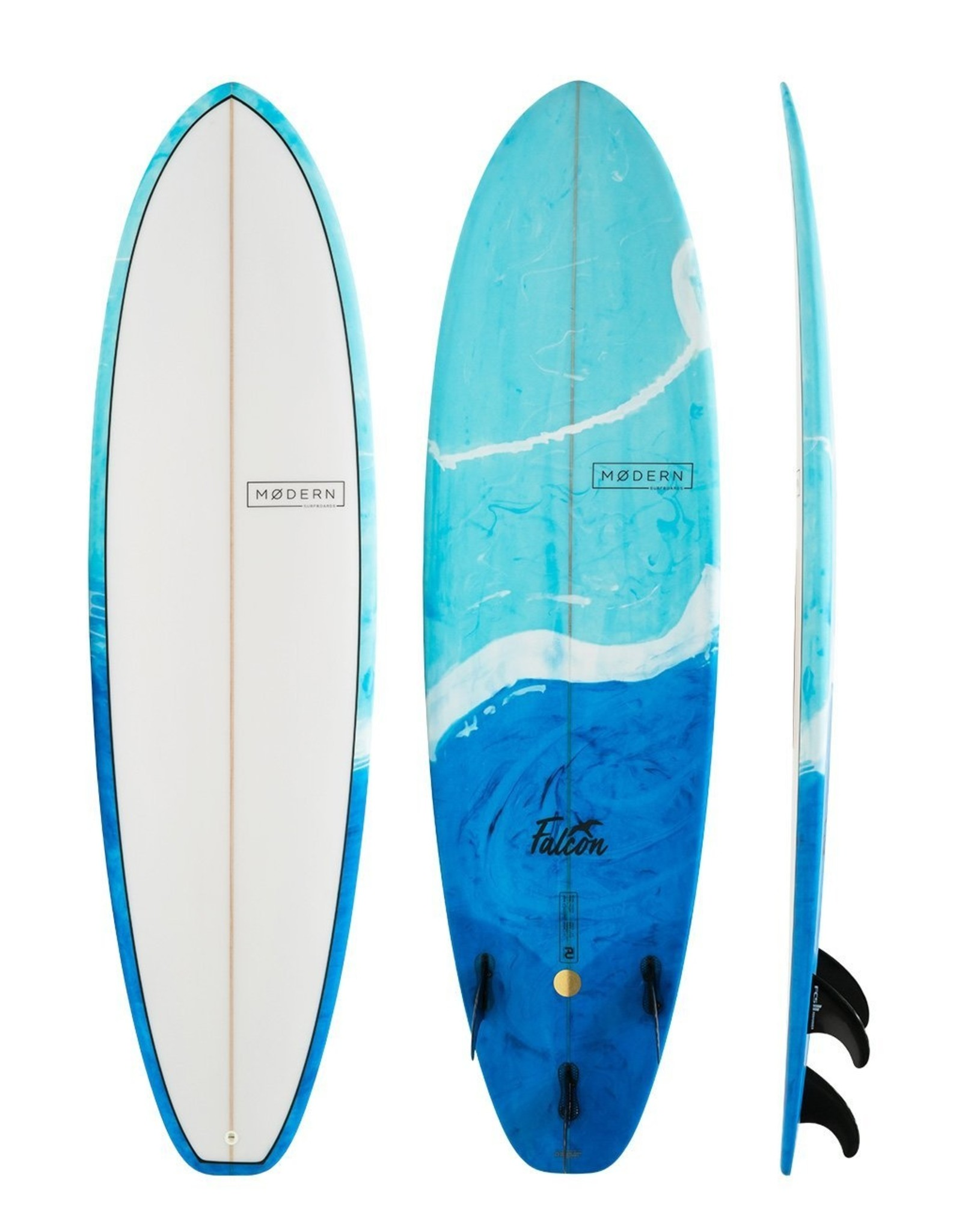Modern Surfboards 7'0 MODERN Falcon PU Blue Swirl Tint