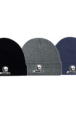 Skull Skates SKULL TOQUE SMALL LOGO W/ CUFF CHARCOAL