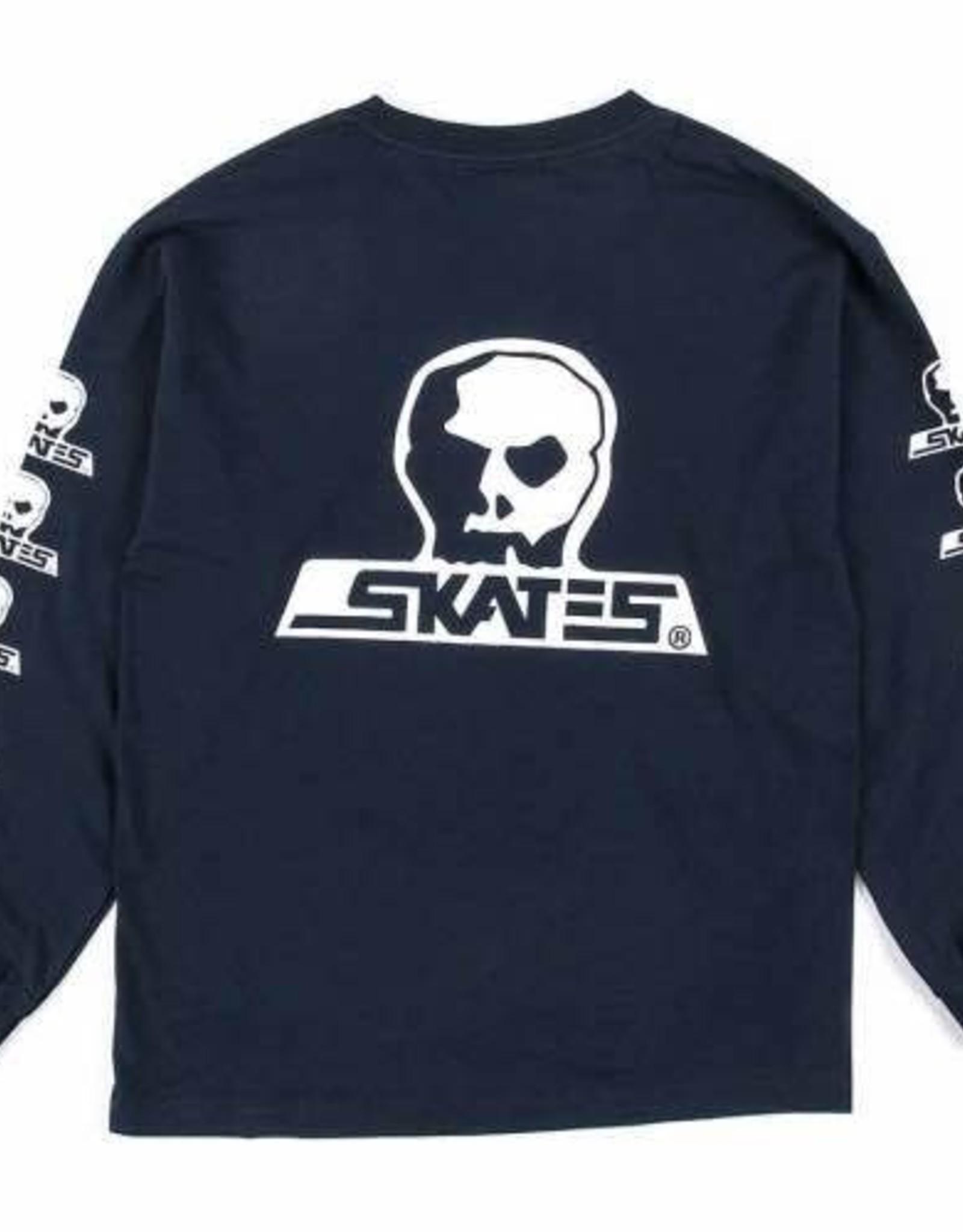 Skull Skates SKULL L/S T-SHIRT SKULL LOGO NAVY MOONSET