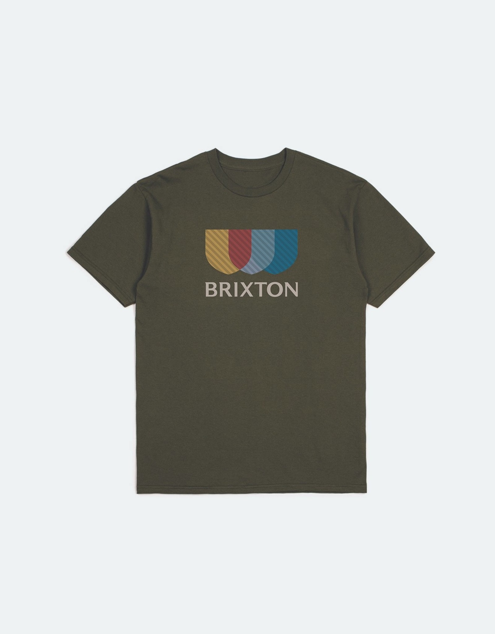 Brixton BRIXTON ALTON STRIPE S/S STT  MILITARY OLIVE