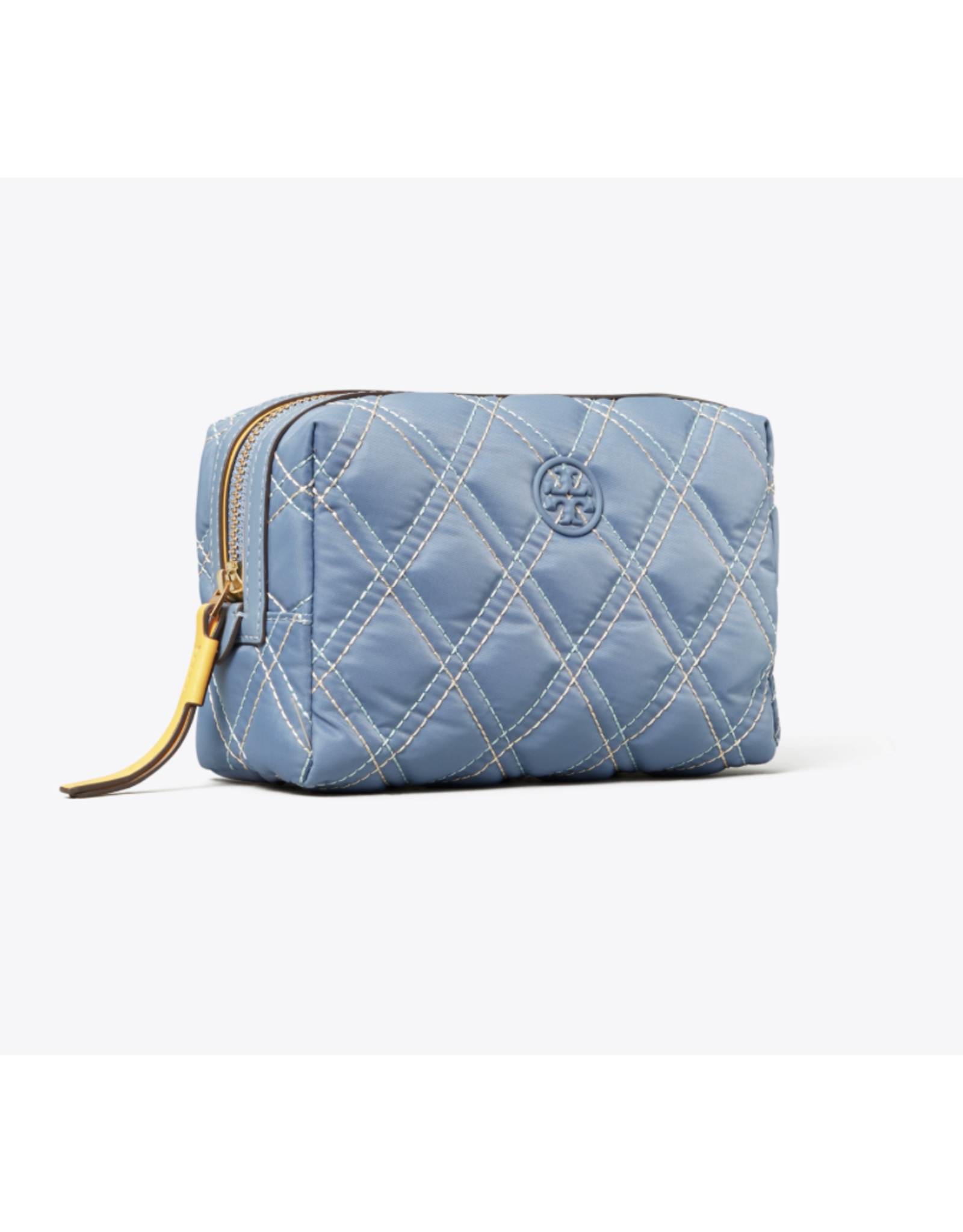 Tory Burch Perry Nylon MIxed Stitch Small Cosmetic Bag