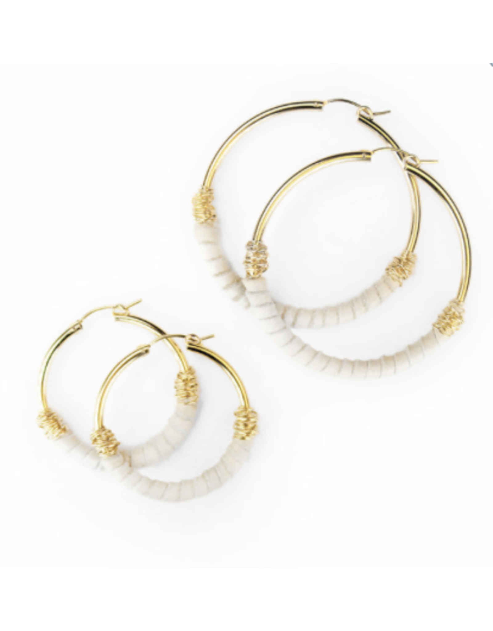 Bloom Jewelry Leather Wrapped Large Hoops