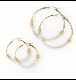 Bloom Jewelry Wrapped Medium Hoops - various